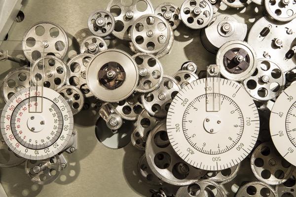 Räderwerk eines Analogrechners